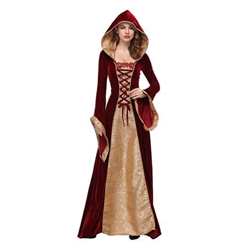Yujeet Halloween Vestido de Carnaval Mujeres Cosplay Disfraz de Vampiresa Traje Manga Larga