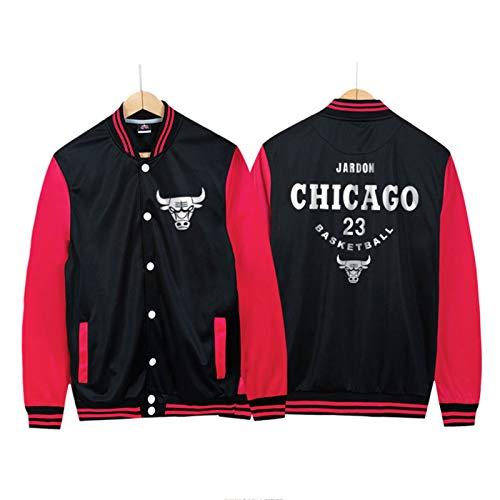 2021 New Season Michael Jordan - Chaqueta de baloncesto para hombre (M-4XL), color rojo