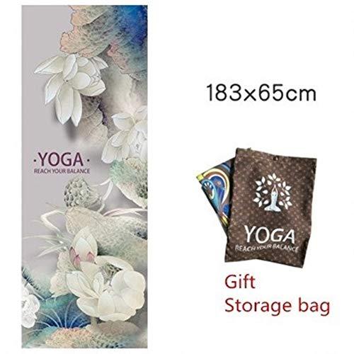 Alfombrilla de Yoga Antideslizante Antideslizante portátil de Microfibra Yoga Mat Sudor Toalla Gimnasia de Manta Adelgaza Deportes Ejercicio Yoga Mat Mat Toalla (Color : A)