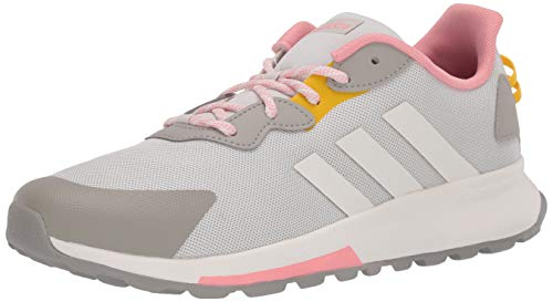 adidas Women's Quesa Trail X Running Shoe, Orbit Grey/Cloud White/Glory Pink, 5 M US