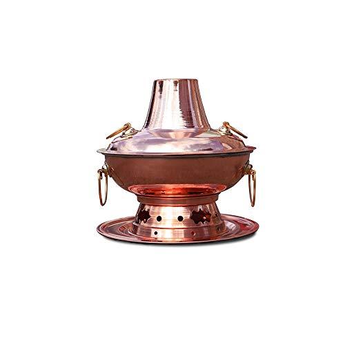 GYZLZZB Creative Design Split Design Beijing Charbon Cuivre Chaud Pot, cuivre pur épaissie Chinoise Mongol Mongol Multi-Person Pot, facile à stocker et propre, adapté au dîner familial et au camping