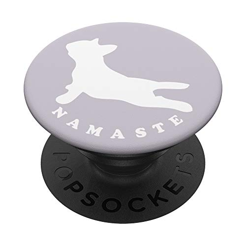 Namaste French Bulldog Yoga Pose Funny Yoga Gift For Women PopSockets Grip and Stand for Phones and Tablets
