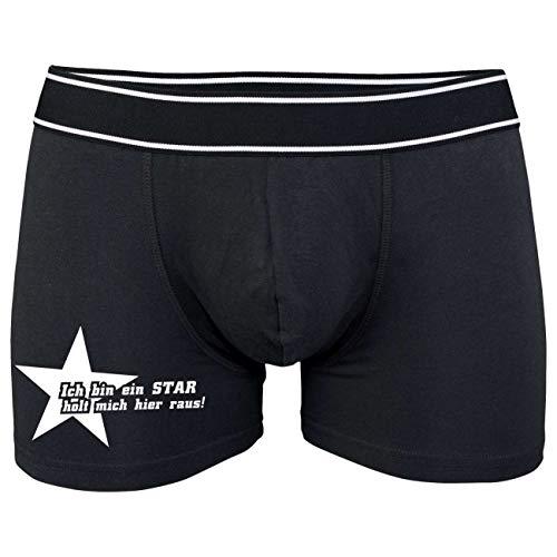 Männer Boxershort mit Spruch Ich Bin EIN Star Holt Mich Hier Raus (Größe S bix XXL)