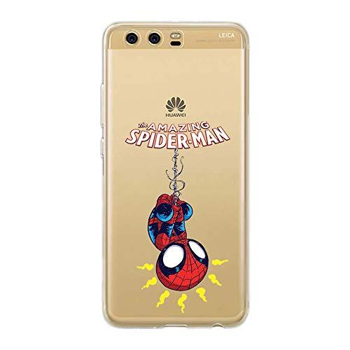 Couverture Coque Cover TPU Gel Transparent, Doux, Garde, Protecteur, Baby Hero Collection Spéciale, Spider Man, Huawei P10 Plus