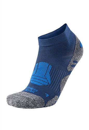 XAED - Chaussettes de fitness pour homme, taille 42/44, Bleu
