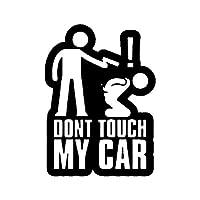 カーステッカー 11センチメートル* 15CM DONT TOUCH MY CAR楽しいビニールステッカー車のステッカーブラックシルバーアクセサリー カーステッカー (Color Name : Black)