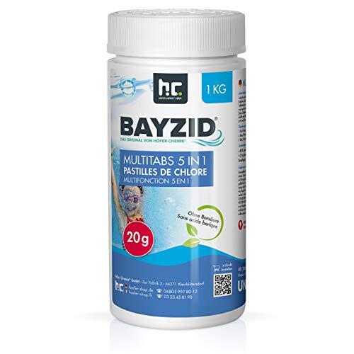 Höfer Chemie Chlor Multitabs 20g für Pool & Spa 1 kg BAYZID Poolpflege - HOCHWIRKSAM
