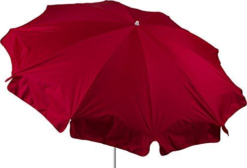 acamp Sonnenschirm wasserabweisend Gartenschirm Marktschirm 240 cm in rot Bespannung 100% Polyester wasserabweisend