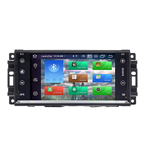 Navegador GPS Para Jeep Wrangler JK Dodge Ram Challenger Chrysler Android 10.0 Octa Core 4GB RAM 128GB ROM 7 'Car Radio Stereo Sistema GPS Car Multimedia Player Soporte Car Auto Play / TPMS / OBD / 4