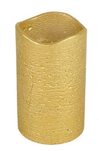 1a-Handelsagentur LED Candela Vari Colori e Misure Cera Candela Weihachten Adventskerze - Oro, 7x15cm