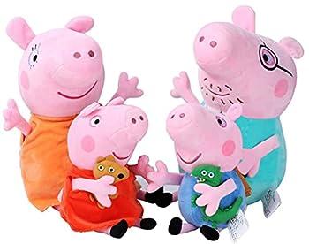 Pack 4 Pig Plushies Peppa - Pig Plush Peppa - Pig Stuffed Animal Peppa - Pig Peppa George Peppa Daddy Mommy Peppa Plush Toy Collection  Pack 4 Pig