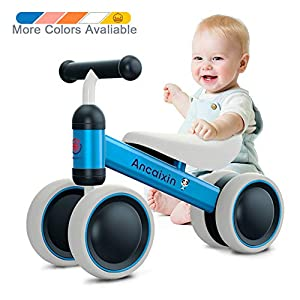 Baby Balance Bikes 10-24 Month Children Walker | Toys for 1 Year Old Boys Girls | No Pedal Infant 4 Wheels Toddler… -
