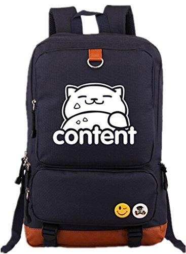 Siawasey Neko Atsume Anime Cat Backyard Cosplay Luminous Rucksack Schultasche