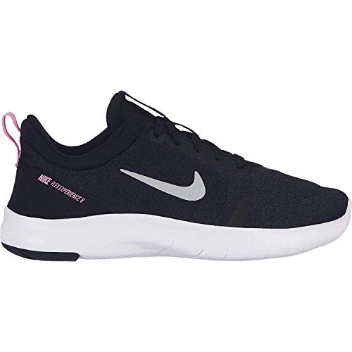 Price comparison product image Nike Girl's Flex Experience RN 8 Running Shoe Black / Metallic Silver / Anthracite Size 7 M US