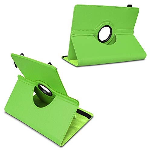 UC-Express Tablet Hülle kompatibel für LNMBBS P40 Tasche Schutzhülle Case Schutz Cover 360 Drehbar 10.1 Zoll, Farbe:Grün