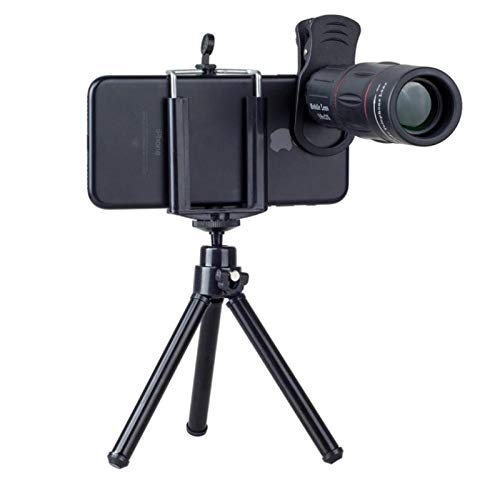 Telescopio astronómico 18X objetivo móvil para iPhone Samsung Smartphones clip universal lente de cámara con trípode 18