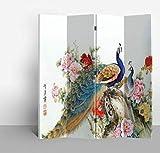 Fine Asianliving biombo Separador Divisor L160xA180cm Habitación Chino Oriental Japones Biombo Decorativo Biombos de...