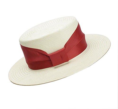 Meaeo Sunscreen Hat Parte Superiore Piatta Cappello di Paglia Europeo E Americano Bianco Semplice Ombrellone Protezione del Sole Spiaggia Hat.