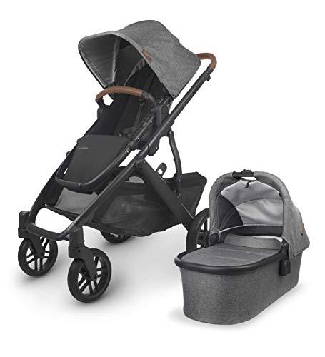UPPAbaby Vista V2 Stroller - Greyson (Charcoal Melange/Carbon/Saddle Leather)