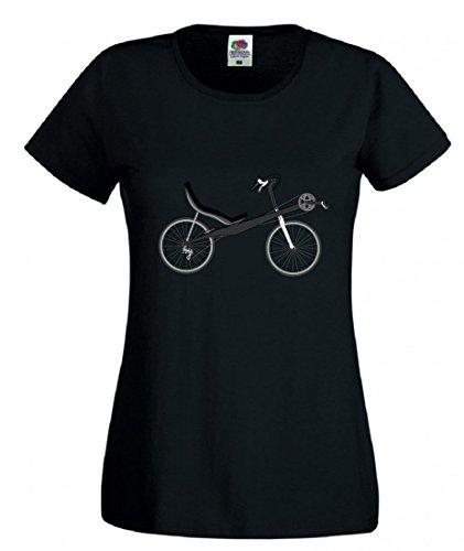 T-Shirt Fahrrad- LIEGERAD- Chaise Lounge- Transport- Fahrzeug- Radfahren in Schwarz für Herren- Damen- Kinder