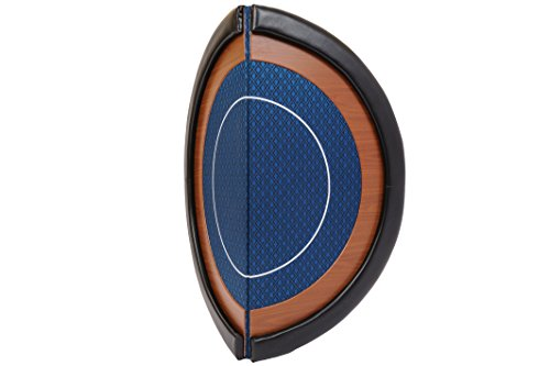 Riverboat Gaming Kompakte Faltbare Pokerauflage mit wasserabweidenden Stoff und Tasche – Blau Pokertisch 120cm - 6