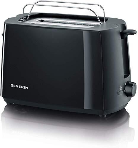 Severin 2287-000 Automatik-Toaster, Inkl. Brötchen-Röstaufsatz, 2 Röstkammern, 700 W, AT 2287, Schwarz, Kunststoff