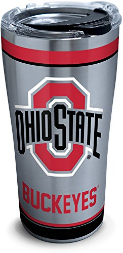 Tervis Triple Walled Ohio State Buckeyes Insulated Tumbler Cup Keeps Drinks Cold & Hot, 20oz - Stainless Steel, Tradition