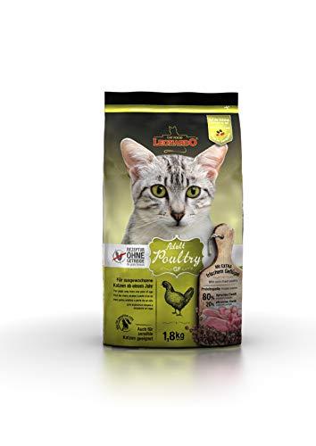 Leonardo Adult GF Poultry [1,8kg] Katzenfutter | Getreidefreies Trockenfutter für Katzen | Alleinfuttermittel für Katzenrassen ab 1 Jahr