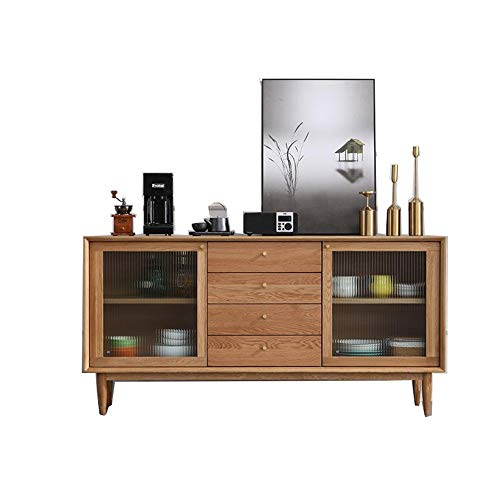 NgMik Muebles Modernos Aparador del gabinete de Cocina bufé Almacenamiento Comedor Armario Mesa con 2 Puertas y 3 cajones for Dormitorio Comedor Aparador (Color : Wood, Size : 150x75x32cm)