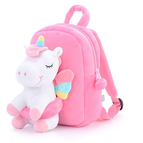 Gloveleya Rucksack Kinder Kleinkind Kinderrucksack mit Einhorn für Mädchen Alter 2+ Rosa