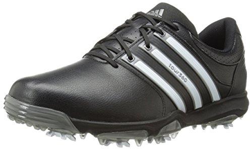 adidas Men's Tour 360 X, Black/Running White/Dark Silver, 10 M US