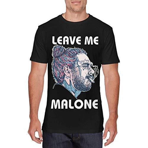 bianlidian Kurzarm Herren T-Shirt Camisas y Camisetas atléticas Top y Blusa, Mens Funny Rapper Post Leave Me Malone Tees Black
