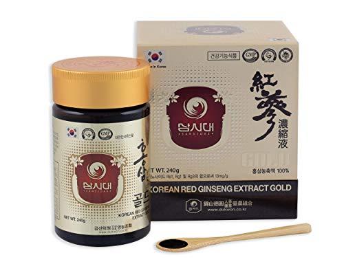 Ginseng rojo coreano extracto Gold 240 g – Para 8 meses – concentración en ginosidos Rg1, Rb1, Rg3 > 13 mg/g