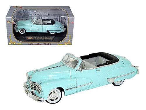 1947 Cadillac Serie 62 hellblau Cabrio 1/32 Automodell von Signature Models