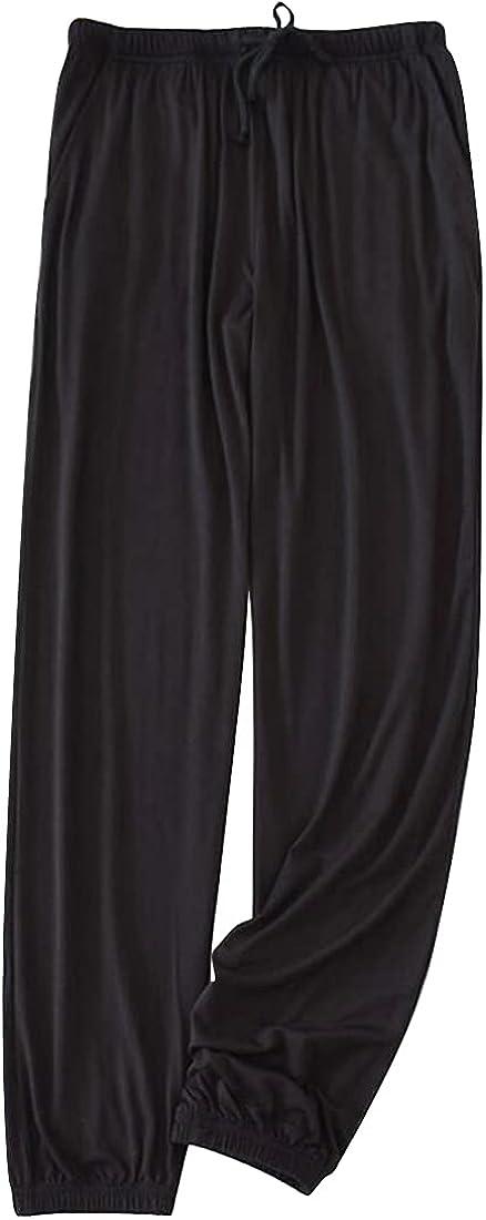 xtsrkbg Men's Casual Loose Pajama Pants Elastic Waist Drawstring Pants