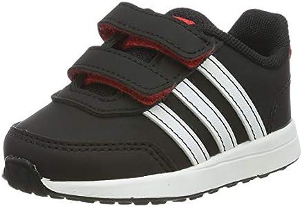 Adidas Vs Switch 2 CMF Inf, Zapatillas de Estar por casa Unisex niños, Multicolor (Negbás/Ftwbla/Rojact 000), 19 EU