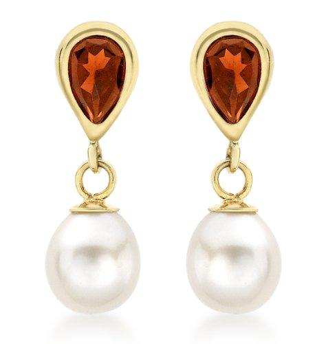 Carissima Gold Pendientes de mujer con oro amarillo 9 K (375) y perla