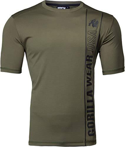 Gorilla Wear Branson T-Shirt - Bodybuilding und Fitness Bekleidung für Herren, grün, XXL