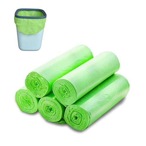 Bio-Müllbeutel 30 Liter, 100 St Reissfeste Abfallsäcke, Küchen Lebensmittel Abfallbeutel, 100% Kompostierbar & Biologisch Abbaubar Beutel Abfall Tüten aus Maisstärke