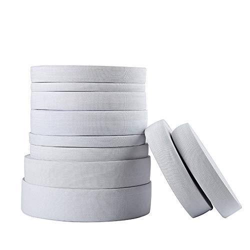 Bandes élastiques plates de 1,5 cm à 10 cm de large - Ruban de couture - Accessoires de bricolage 1.5CM x 40Meters/Roll blanc