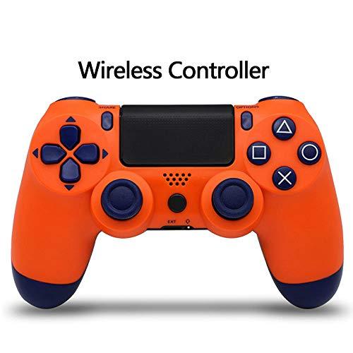Controlador Bluetooth PS4,Mando de juegos inalámbrico Gamepad para Playstatn 4,Joystick de doble vibración para PS4-Orange