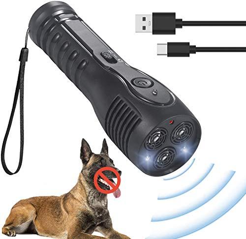 OM Ultraschall Hunde, Ultraschall Anti-Bell-Gerät für Hunde Barking Device für Hunde Ultraschall-Hundebellen Mit LED-Anzeige, Sicher und Human Indoor Outdoor für Kleine Große Hunde