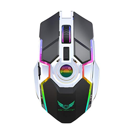 VonVonCo 2.4G Rechargeable Wireless Mouse RGB Lamp for Gaming Machine Laptop