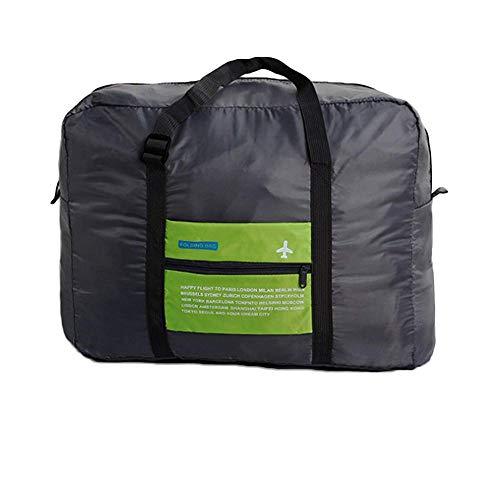 Fliyeong Gepäcktasche, Ultra leicht, faltbar, wasserdicht, Handtasche, Reise-Organizer, Aufbewahrungstasche für Sport, Camping, 1 Stück, Grün