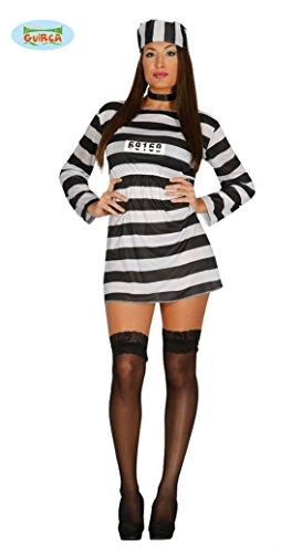 sexy Sträfling Kostüm für Damen Gr. M/L, Größe:L