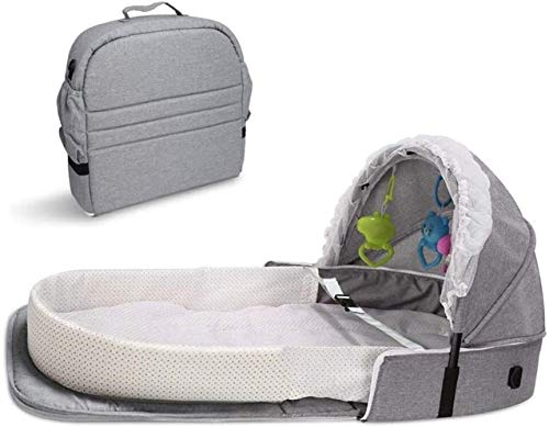 YYhkeby 4 in 1 Portable Bassinet Foldable Baby Bed, Infant Sleeper with Awning and Mosquito Net,Infant Travel Sleeper Portab. Jialele
