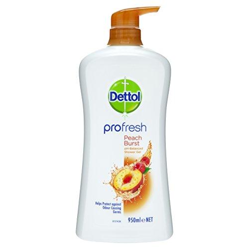 Dettol Profresh Shower Gel Peach & Raspberry Body Wash, 950ml