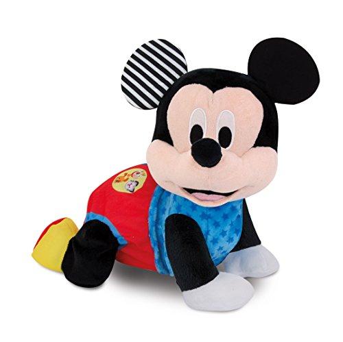 Clementoni 59098 Disney Baby – Mickey Krabbel mit mir, kuscheliges Lernspielzeug für Baby - s & Kleinkinder, Plüschtier zur Entwicklung der Motorik, Förderung der Entwicklung