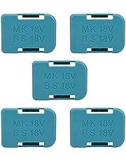 5Pcs Lithium Batterij Opbergrek Houder Plank Beugel Riem Slot Muurbevestiging Opslag Lader Clips voor Makita 18V Bevestiging Apparaten 9.5x7x2.5cm