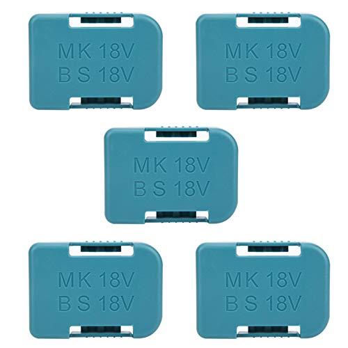5Pcs Battery Rack Lithium Battery Storage Shelf Bracket Belt Slot for Makita 18V Fixing Devices (cyan-blue)